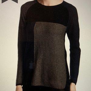 NIC+ZOE Telegraph color block pullover sweater